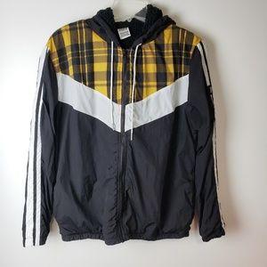 PINK by VS Yellow Plaid Anorak Jacket XS
